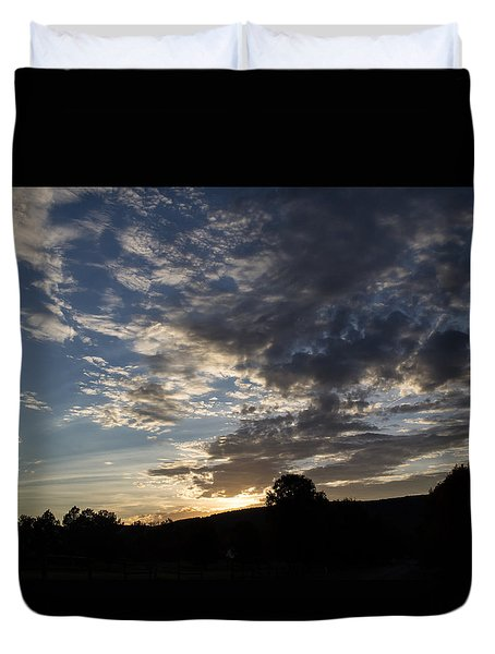 Sunset On Hunton Lane #1 Duvet Cover