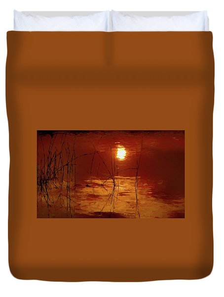 Sunset On The Bay Duvet Cover by Andrea Kollo