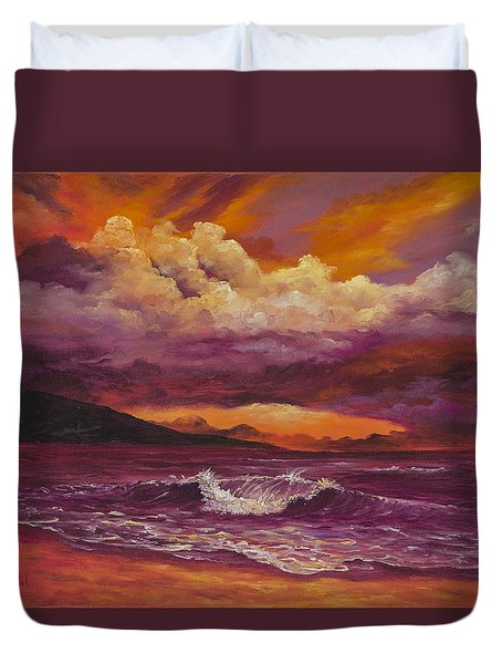 Sunset Over Lanai Duvet Cover by Darice Machel McGuire
