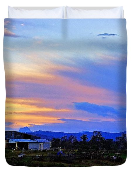 Sunset Over The Great Divide Duvet Cover