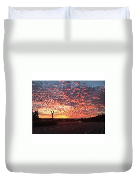 Tampa Sunset Duvet Cover by Janel Cortez