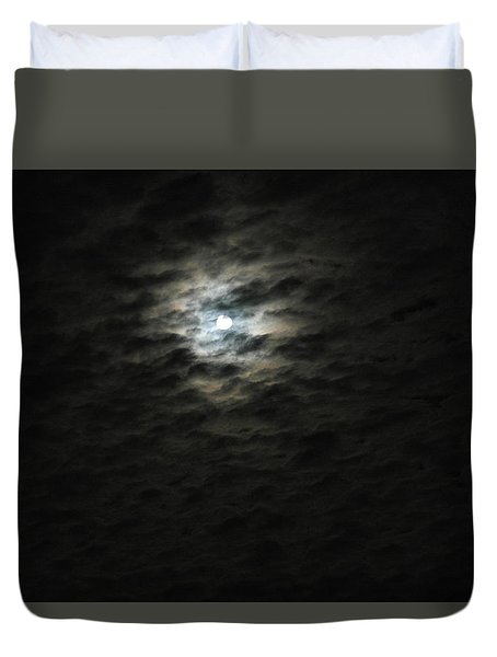 Duvet Cover featuring the photograph super moon II by Irma BACKELANT GALLERIES