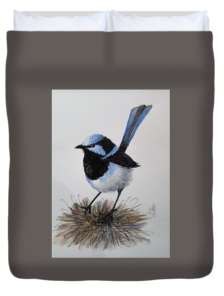 Superb Blue Wren Duvet Cover