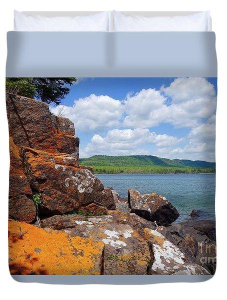Superior Lichens Duvet Cover