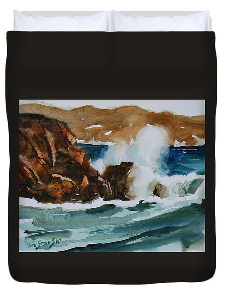 Surf Study Duvet Cover