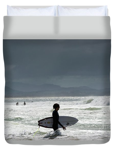 Surfing At  Duvet Cover