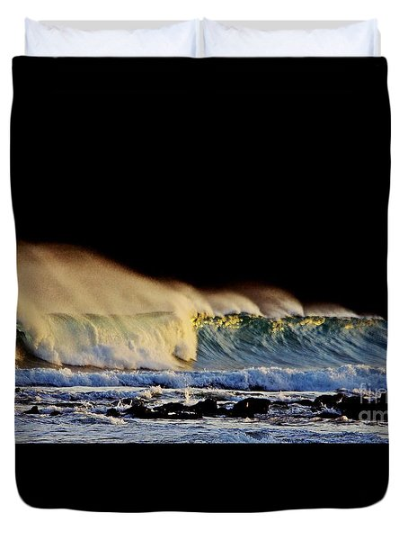 Surfing The Island #2 Duvet Cover by Blair Stuart