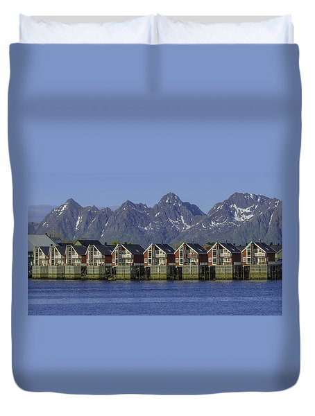 Svolvaer Norway Duvet Cover