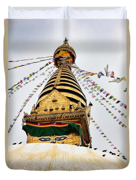 Swayambhunath Duvet Cover