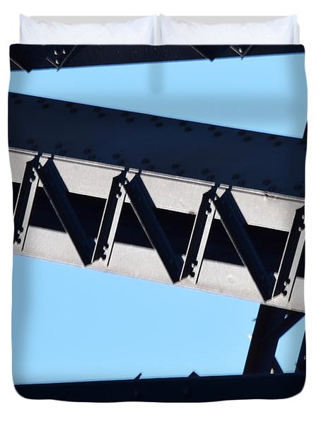 Sydney Harbour Bridge Detail No. 2 Duvet Cover