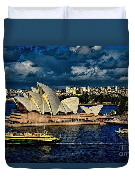 Sydney Opera House Australia Duvet Cover by Diana Mary Sharpton