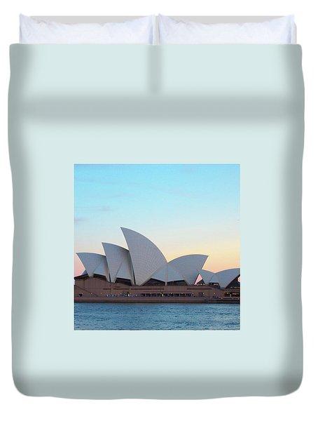 Sydney Opera House At Dusk Duvet Cover by Sugar N