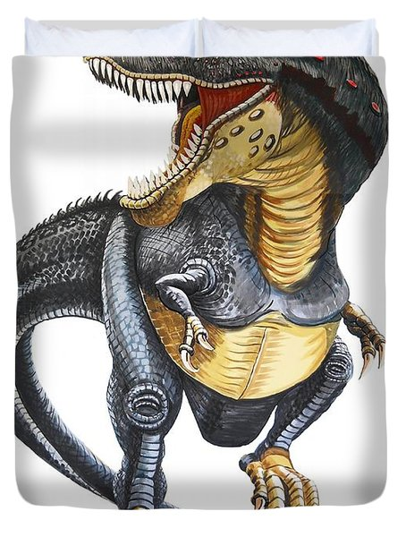 T-rex Duvet Cover by Murphy Elliott