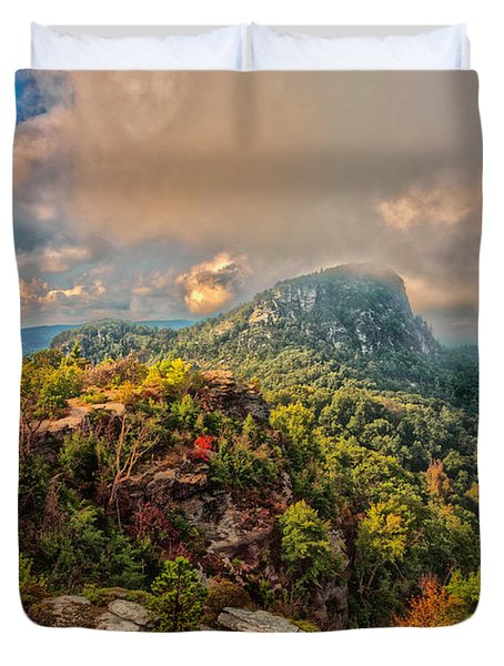 Table Rock Duvet Cover
