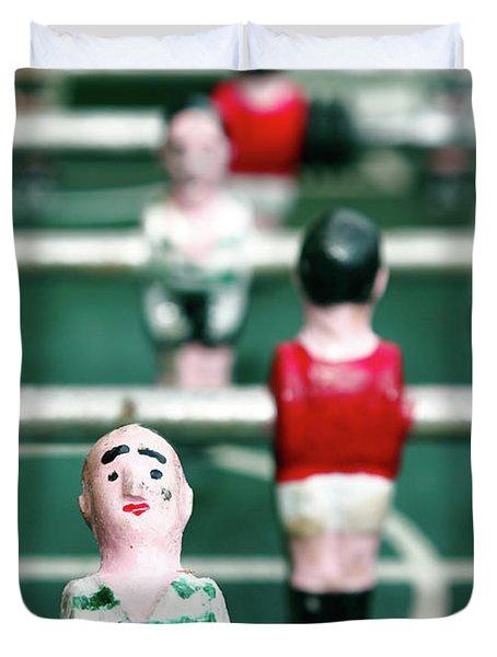 Table Soccer Duvet Cover by Gaspar Avila