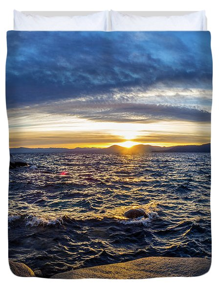 Tahoe Sunset Duvet Cover