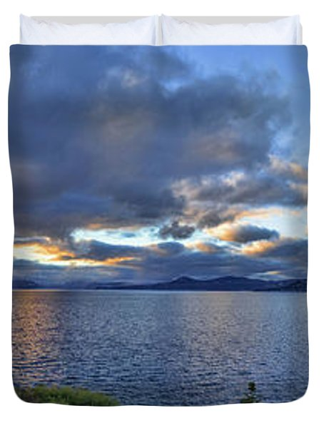 Tahoe Sunset Panorama Duvet Cover