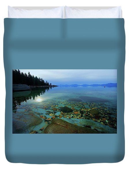 Tahoe Twilight Duvet Cover