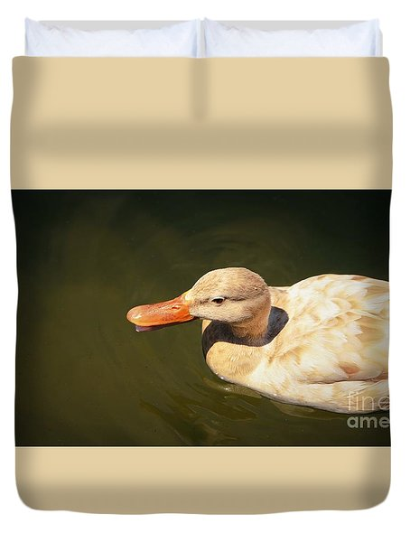 Duvet Cover featuring the photograph Taking It Easy by Pamela Blizzard