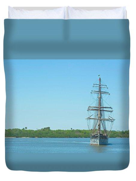 Tall Ship Elissa Duvet Cover