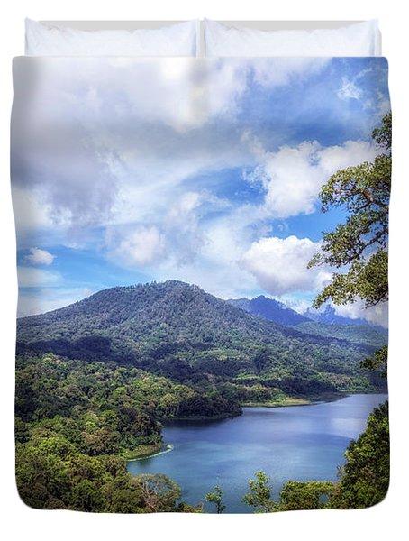 Tamblingan Lake - Bali Duvet Cover