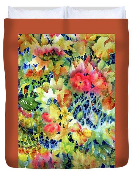 Tangled Blooms Duvet Cover