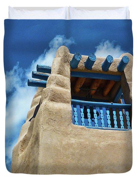 Taos Blue Duvet Cover