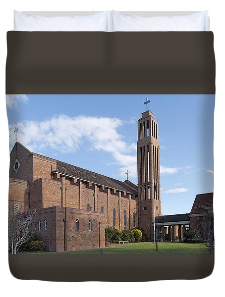 Duvet Cover featuring the photograph Taree Church 01 by Kevin Chippindall