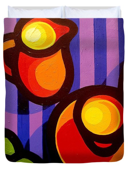 Tea And Apples Duvet Cover