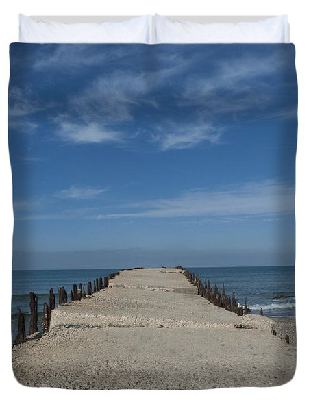 Tel Aviv Old Port 3 Duvet Cover