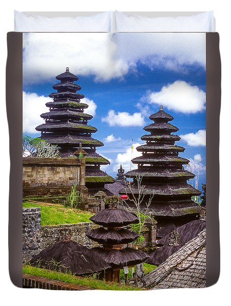 Duvet Cover featuring the photograph Temple City by T Brian Jones