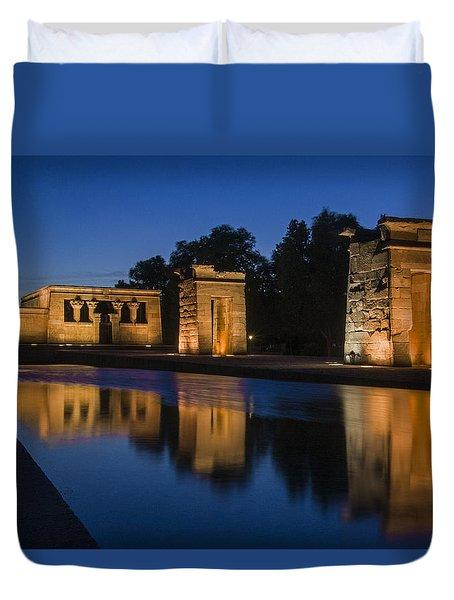 Templo De Debod Duvet Cover by Ross G Strachan