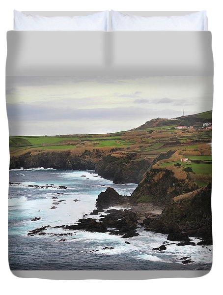Terceira Coastline Duvet Cover