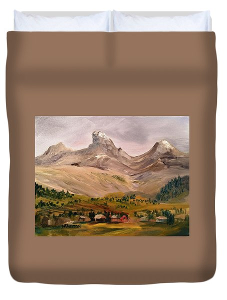 Tetons From The West Duvet Cover