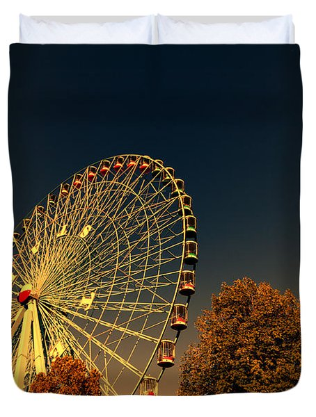 Texas Star Ferris Wheel Duvet Cover