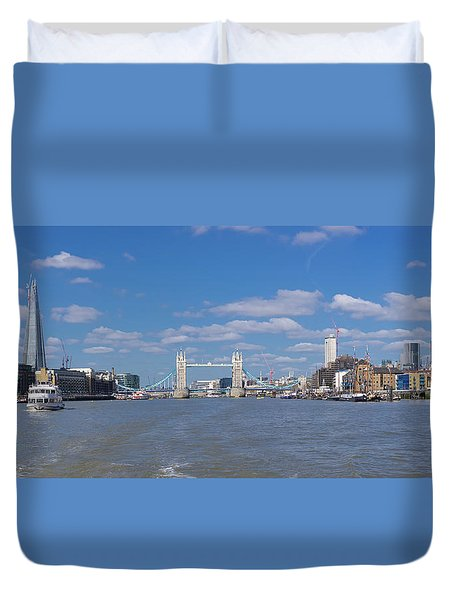 Duvet Cover featuring the photograph Thames View by Stewart Marsden