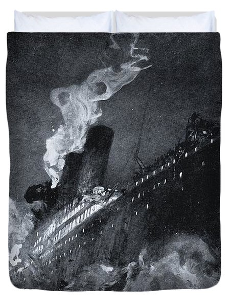 The 46,328 Tons Rms Titanic Of The Duvet Cover
