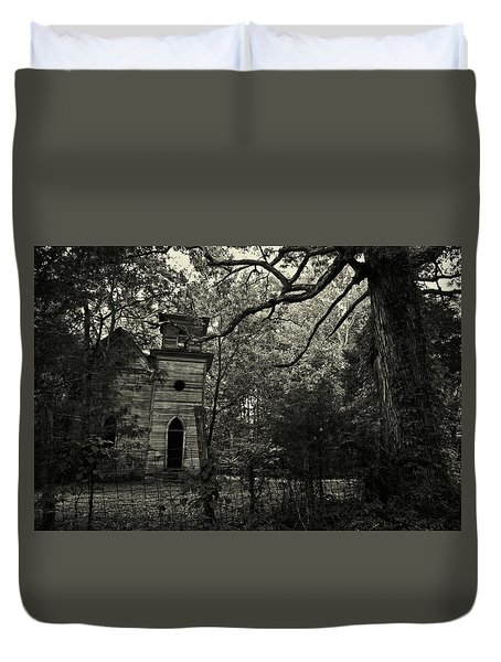 The Abandoned Church Duvet Cover