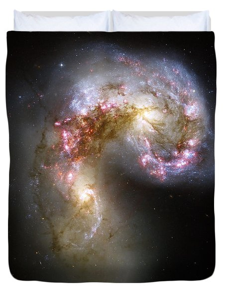 The Antennae Galaxies Duvet Cover by Stocktrek Images
