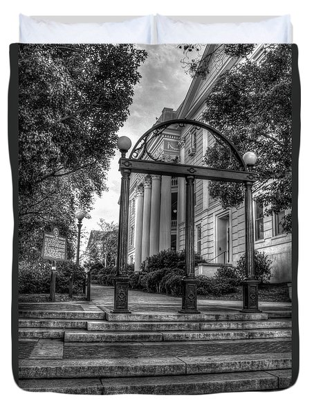 The Arch 5 University Of Georgia Arch Art Duvet Cover