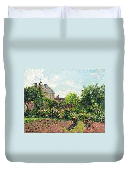 The Artist's Garden At Eragny Duvet Cover