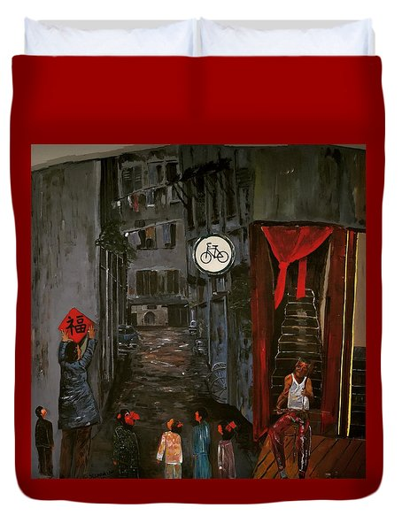 The Backlane Duvet Cover by Belinda Low