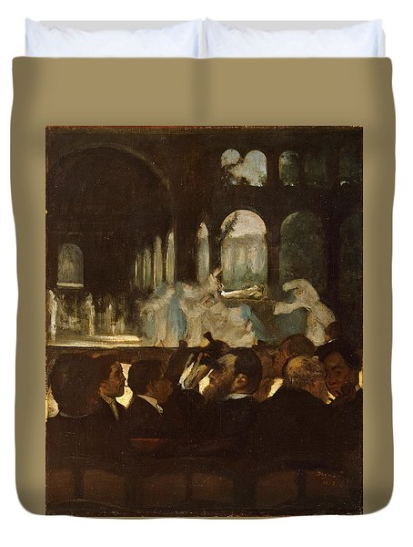 Duvet Cover featuring the painting The Ballet From Robert Le Diable by Edgar Degas