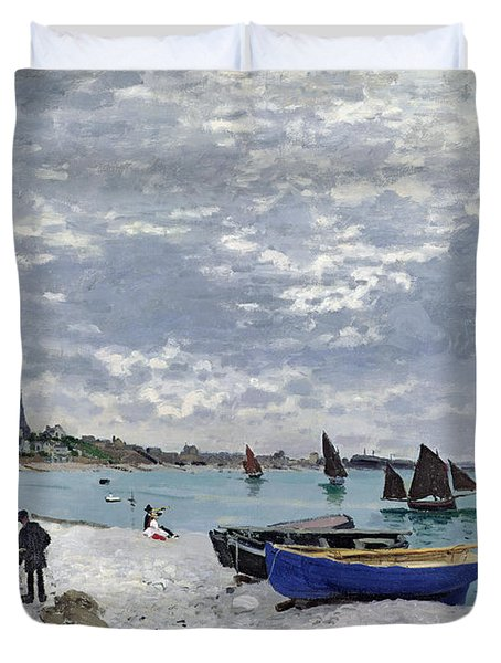 The Beach At Sainte Adresse Duvet Cover