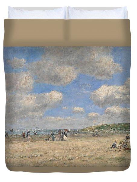 The Beach At Tourgeville Les Sablons Duvet Cover