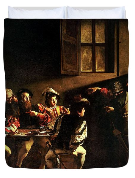 The Calling Of St. Matthew Duvet Cover