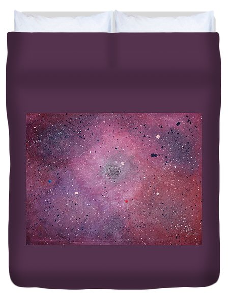 Duvet Cover featuring the painting the Calm by Michael Lucarelli