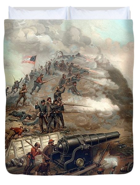 The Capture Of Fort Fisher Duvet Cover by War Is Hell Store