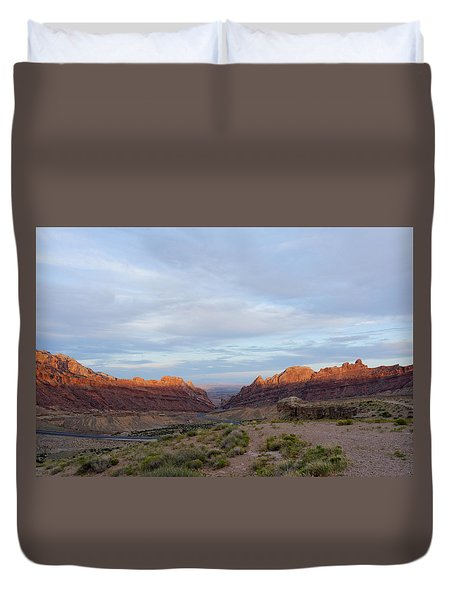 The Castles Near Green River Utah Duvet Cover