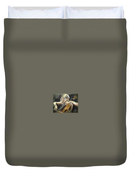 The Cellist Duvet Cover by Debora Cardaci
